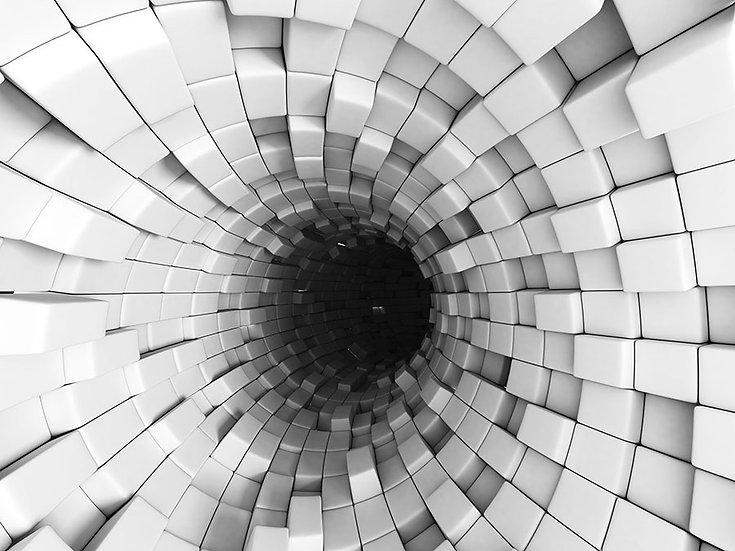3D Tünel Duvar Kağıdı | 3D Duvar Kağıdı Örnekleri