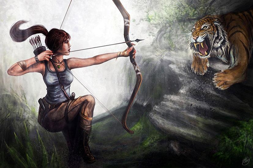3D Kaplan Avı Duvar Kağıdı | Full HD Amazon Kadını Duvar Kağıtları