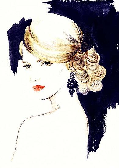Bayan Kuförü Duvar Kağıtları   Güzellik Merkezi Duvar Kağıtları Örnekleri