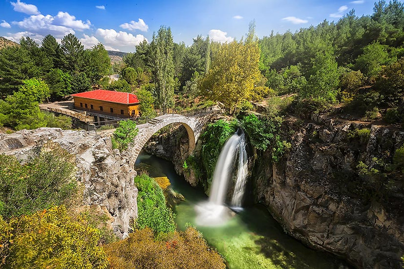 3 Boyutlu İtalya Taş Köprü Duvar Kağıtları | Dokulu Nehir Yatağı Duvar Kağıtları
