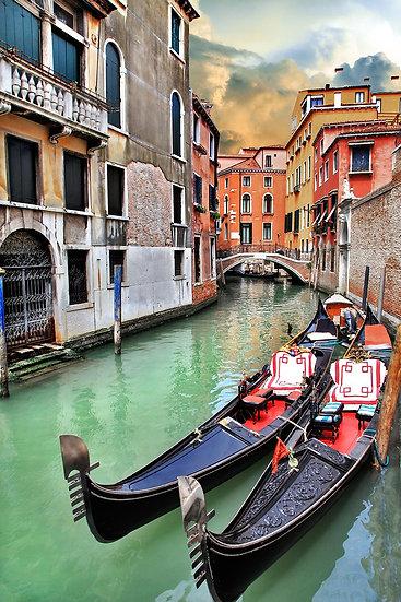 3 Boyutlu Venedik Duvar Kağıtları | HD Venedikde Gondol Gezisi Duvar Kağıtları