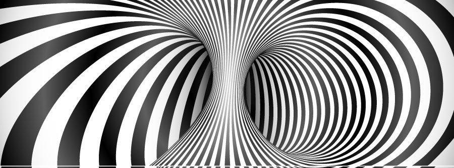 3 Boyutlu Duvar Kağıdı | Muhteşem Siyah Beyaz Simetri Duvar Kağıtları