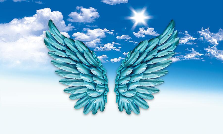 Blue Angel HD Duvar Kağıtları   3D Mavi Melek Kanadı Duvar Kağıtları   İstanbul