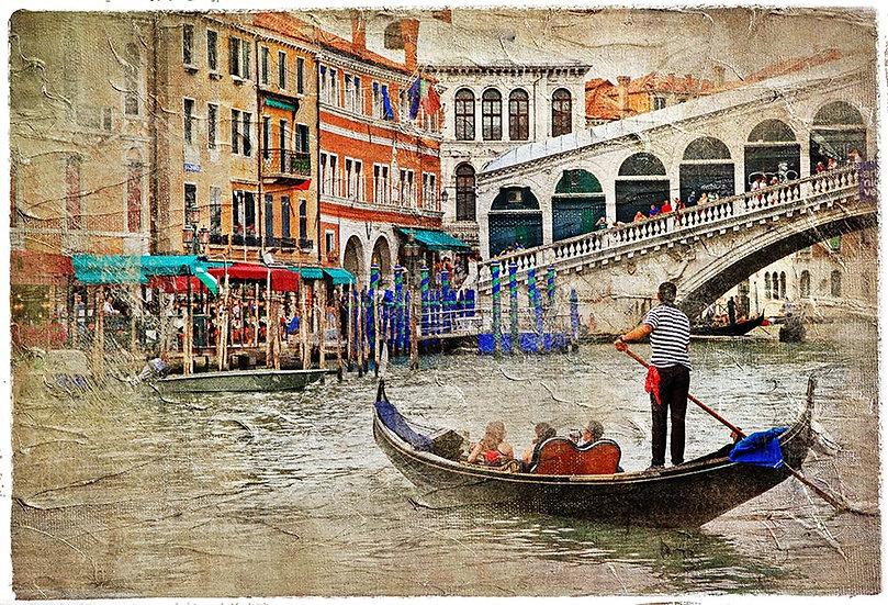 Venedik Manzara Duvar Kağıdı   Eskitme Venedik Duvar Kağıdı Modelleri
