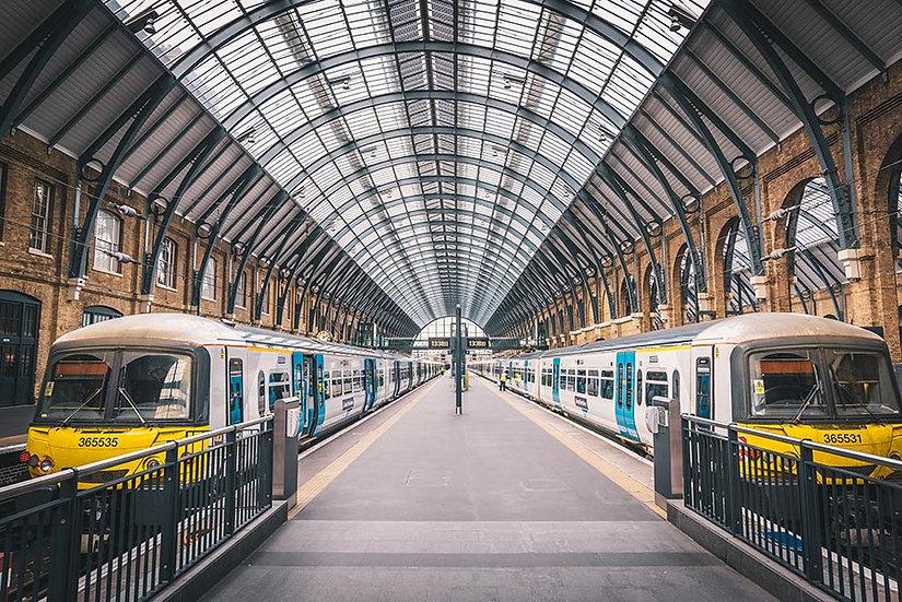 3 Boyutlu Duvar Kağıtları HD | Dokulu Tren İstasyon Tünel Duvar Kağıtları