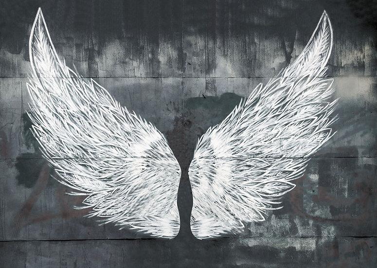 3BoyutluMelek Kanatlı Duvar Kağıtları | 3D Melek Kanatlı Duvar Posterleri
