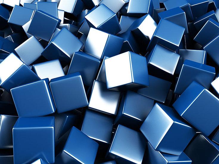 3D Mavi Küpler Duvar Kağıdı | Duvar34.com