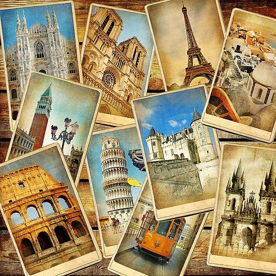 3D Eski Kart Postal Duvar Kağıdı | Full HD Eski Şehirler Duvar Kağıtları