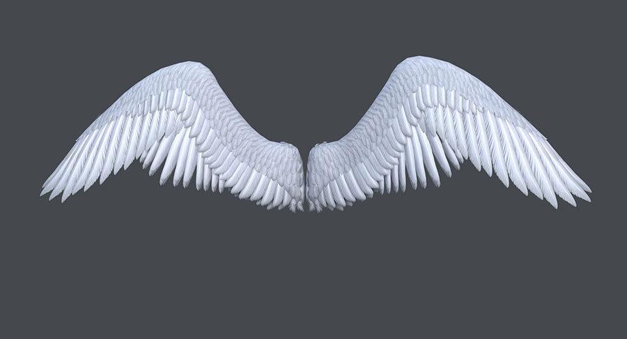Kanat Manzara Duvar Kağıtları | Kabartmalı White Angel Duvar Kağıtları
