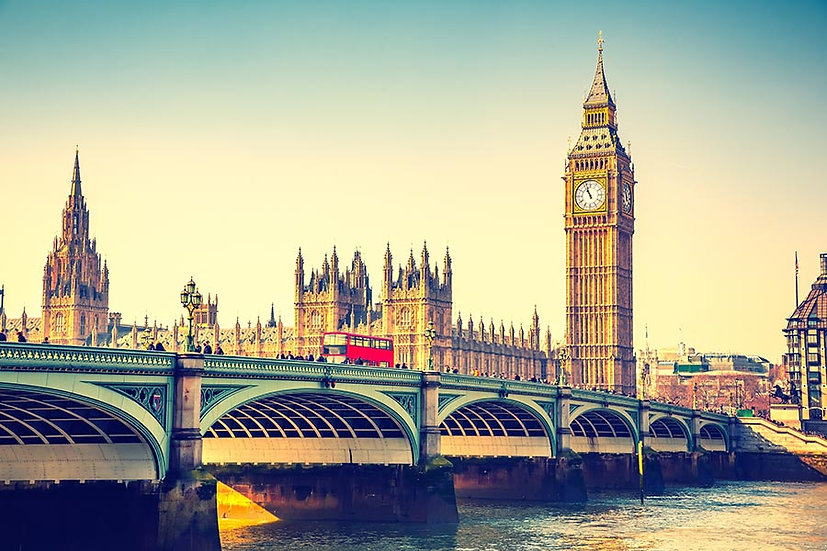 3 Boyutlu Duvar Kağıtları HD | Dokulu Big Ben Londra Köprüsü Duvar Kağıtları