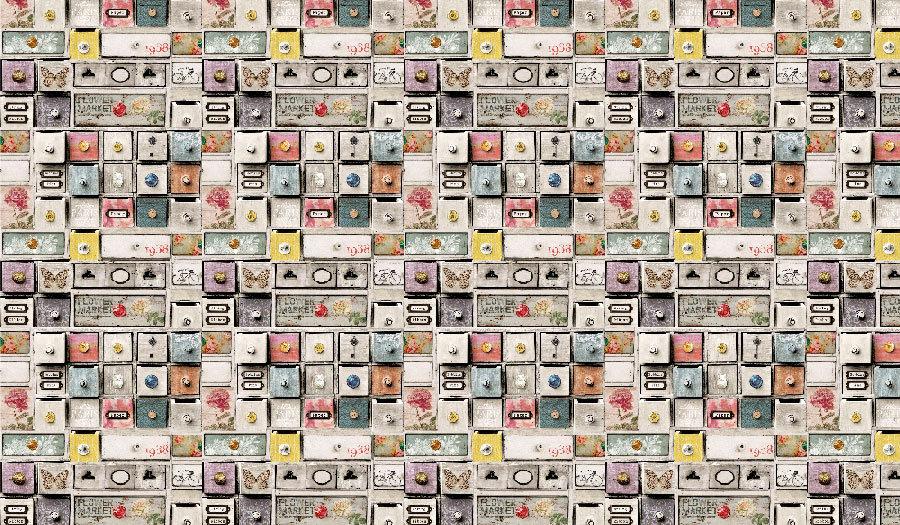 Çekmeceler - Duvar Posteri   Renkli Çekmece Duvar Modelleri