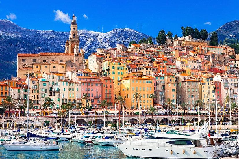 3 Boyutlu Duvar Kağıtları | Full HD Fransa Tatil Kenti Duvar Kağıtları