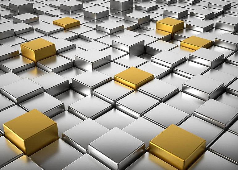 3 Boyutlu Küp Duvar Kağıtları | Efsane Metal Küp Arka Plan Duvar Kağıtları