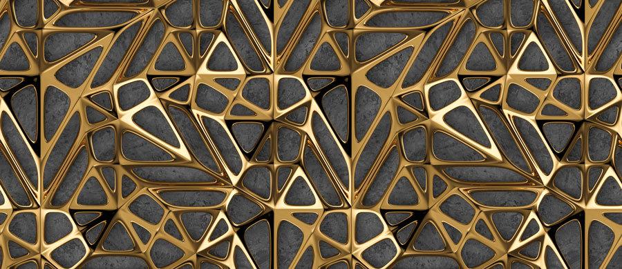 3D Gold Motifli Duvar Kağıtları | Gold Desenler Duvar Kağıdı | İstanbul