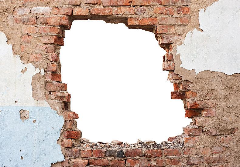 Yıkık Tuğla Duvar Kağıdı | 1 m2 fiyatı