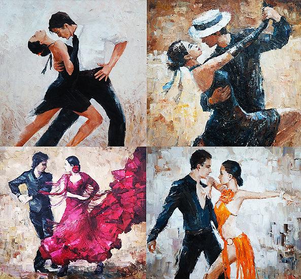Tango Doğal Taş Boyama Duvar Kağıdı