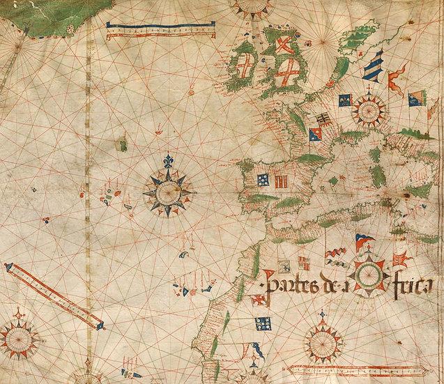 Eski Kıta Haritası | 3D Eski Kıta Haritası Duvar Posteri | Bayburt