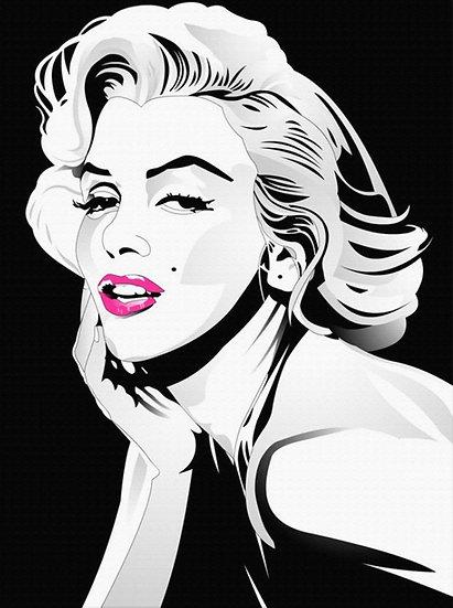HD Marilyn Monroe Duvar Posteri | Marilyn Monroe Karakalem Çizim Duvar Kağıdı