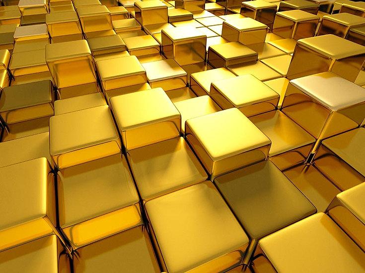3 Boyutlu Altın Küp Duvar Kağıdı | Full HD Sarı Küp Duvar Kağıtları | Aydın