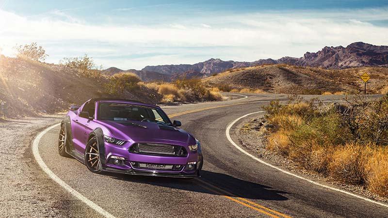 Mor Ford Mustang Duvar Kağıtları Modelleri | 3D Otomobil Duvar Kağıdı