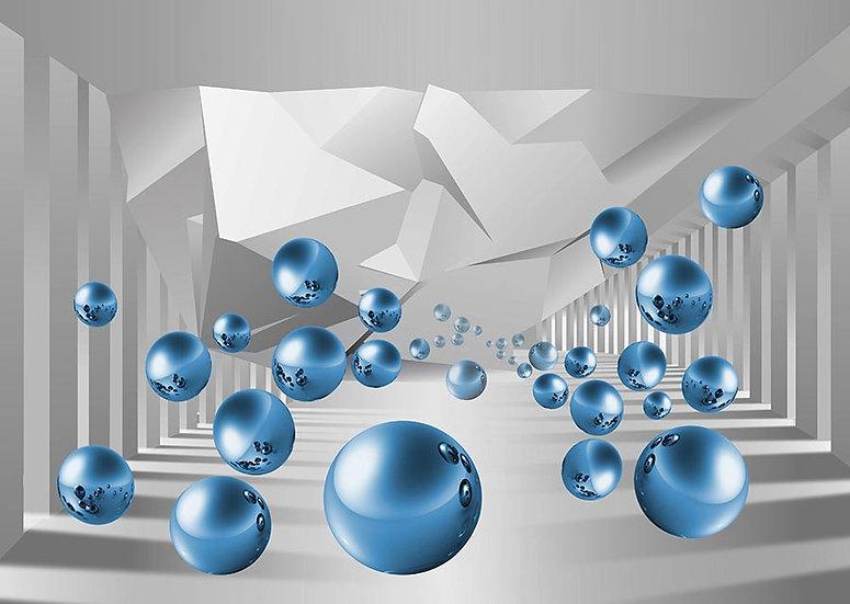 Duvarlar İçin Mavi Toplar Duvar Kağıdı | Özel Tasarım Duvar Kağıtları
