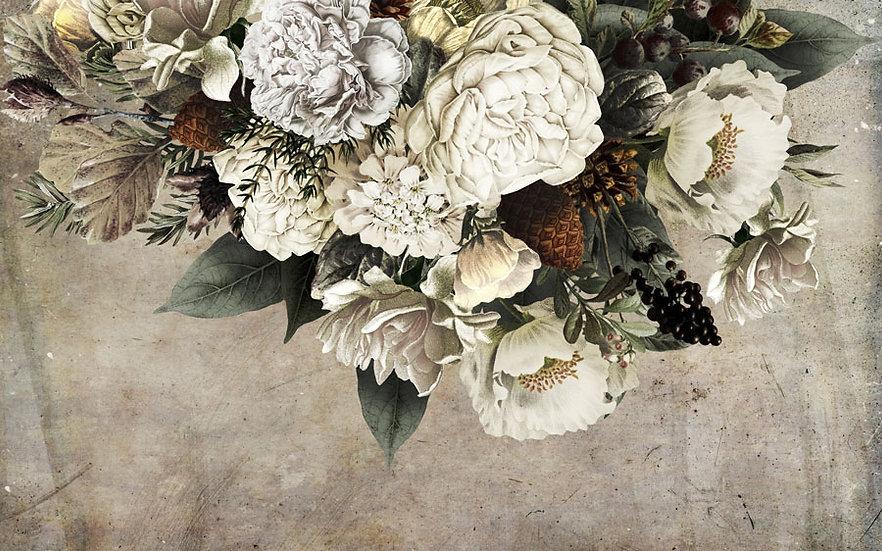 Vintage Çiçekle Duvar Kağıdı | Retro Duvar Kağıtları | Ankara Duvar Kağıtları