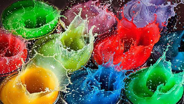 Renkli Su Tasarım Duvar Kağıdı | Pc Masası Duvar Kağıdı | Duvar34.com