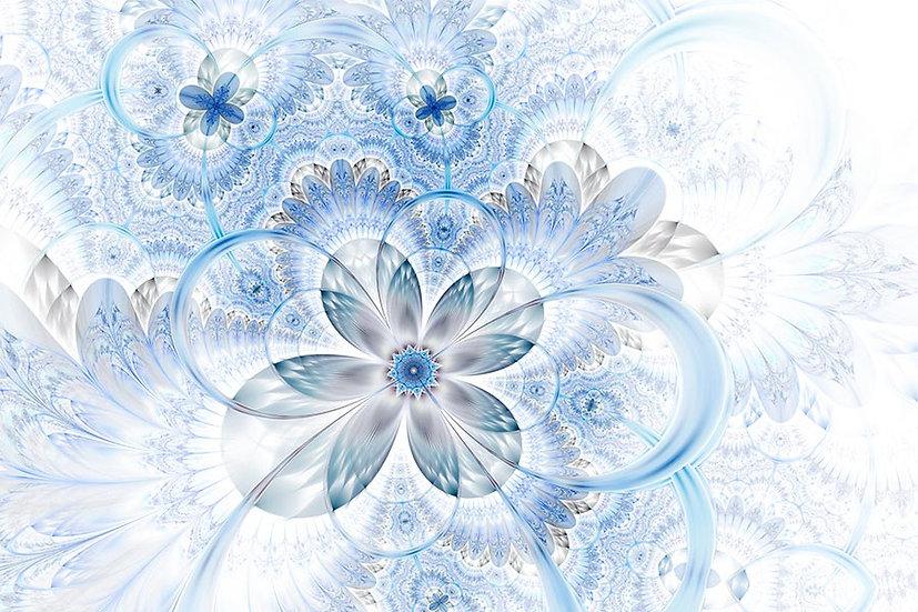 3 Boyutlu Çiçek Çizim Duvar Kağıdı | Dokulu Çiçek Dizayn Duvar Kağıtları