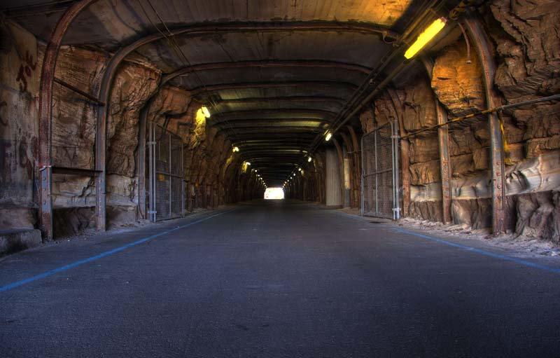 Tünel Manzara Duvar Kağıdı | Derinlikli Duvar Kağıdı | 3D Duvar Kağıdı