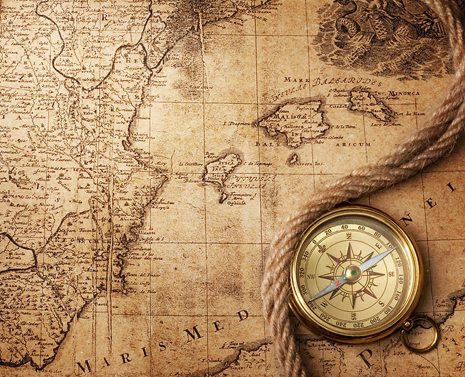 Eski Pusula Haritası | 3D Eski Pusula Haritası Duvar Posteri | Edirne
