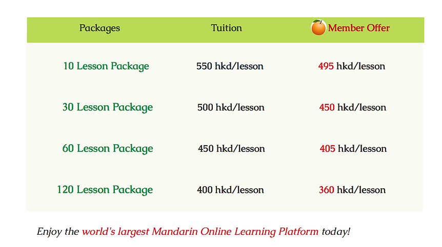 Private Class Tuition at Mandarin Time School