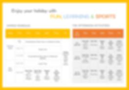 Mandarin Time Summer Camp Schedule