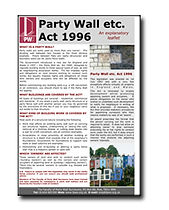 Party Wall Guidance Leaflet