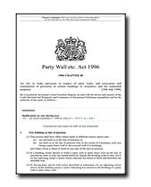 The Party Wall Etc Atc 1996