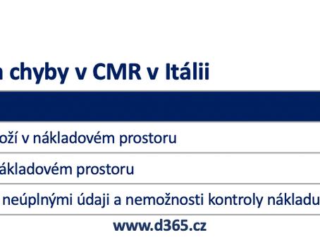 Kontrola CMR v Itálii