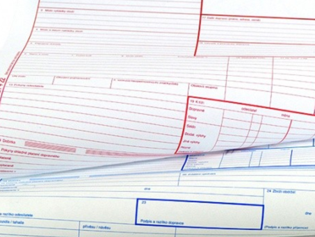 CMR list ve vnitrostátní dopravě