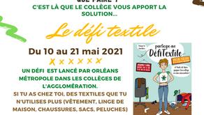 Participez au défi textile lancé par les éco-délégués !
