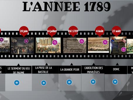 Une frise interactive sur la Révolution française
