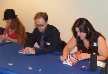 Horror anthology book signing
