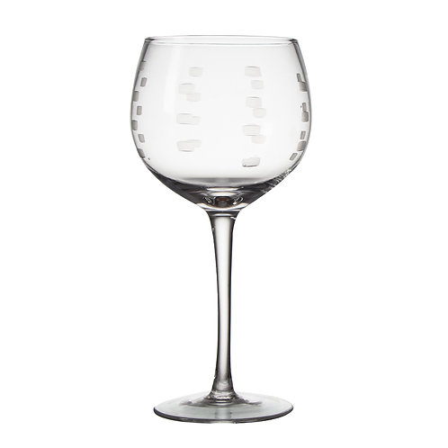 AYZ 17042 20 oz. Hand-made Wine Glass with Frosted Decorate - 24/Case