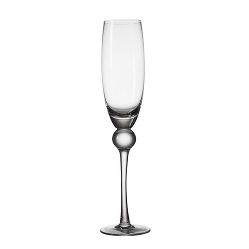 AYZ 19024 8 oz. Hand-made Champagne Flute Glass - 24/Case