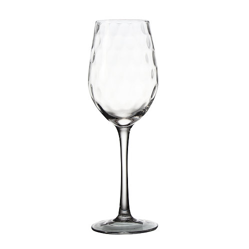 AYZ 17044 16 oz. Hand-made Wine Glass with Frosted Decorate - 24/Case