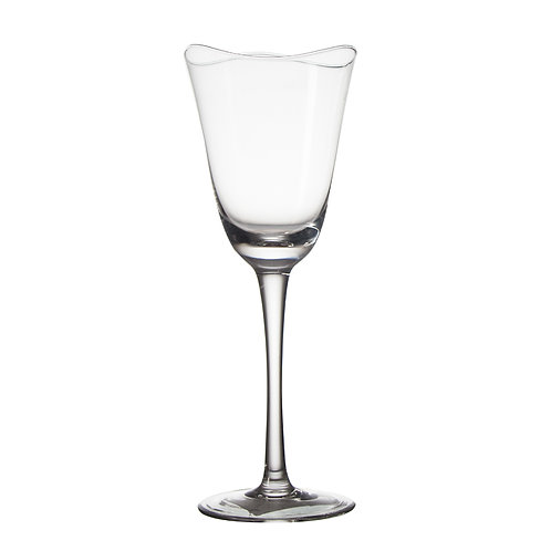 AYZ 17040 13 oz. Hand-made Wine Glass with Wave-Opening - 24/Case