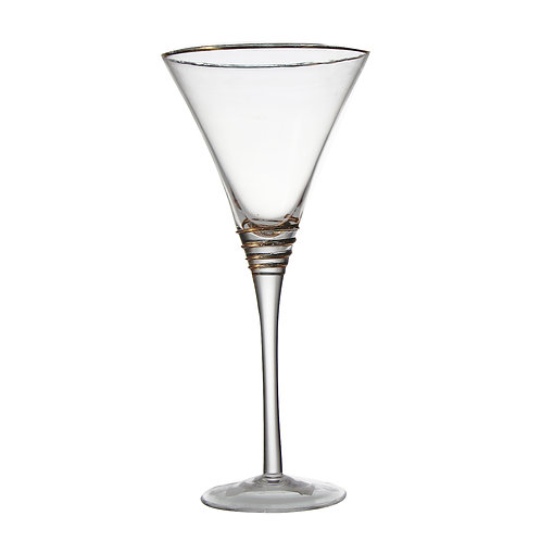 AYZ 18010 9 oz. Hand-made Tall Cocktail / Martini Glass - 24/Case