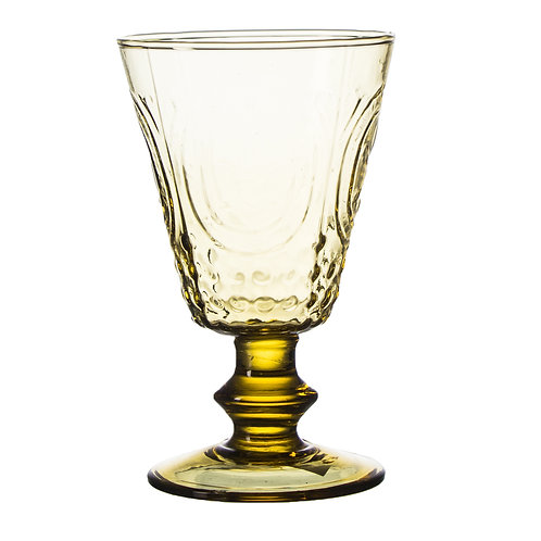 "AYZ 23005 ""ColorOld"" Hand-made 10.5 oz. Goblet Glass - 24/Case"