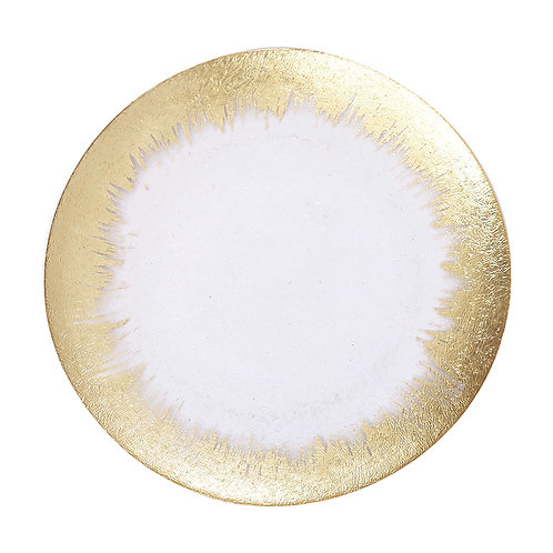 AYZ 24007 Foil Rim Glass Charger Plate