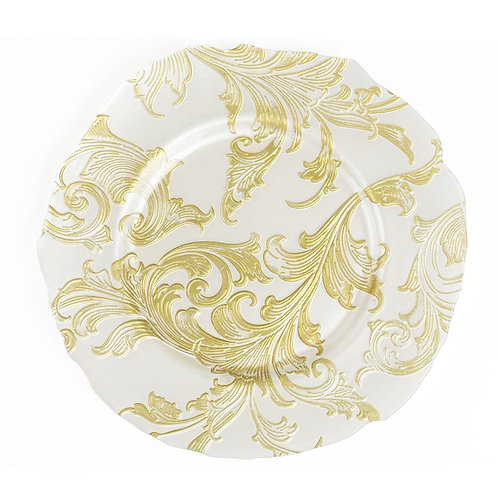 AYZ 24016 13'' Engraving Flower Charger Plate