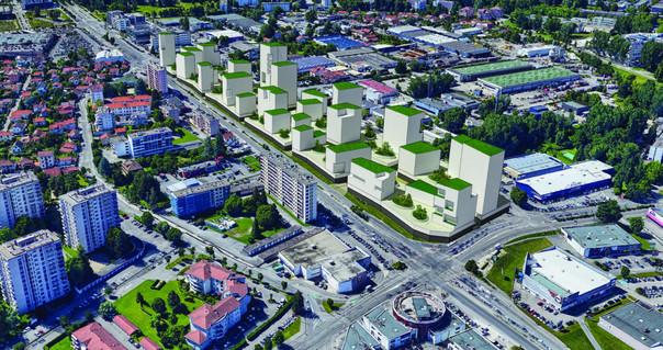 Recréer une ambiance urbaine en intégrant l'existant.