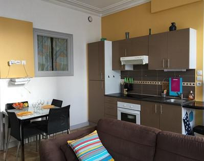 Rochefort Appartement Skipper -Salon Séjour sur cuisine ouverte