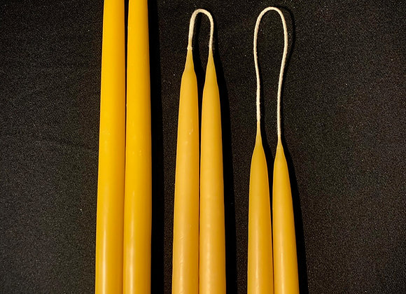 Beeswax dinner candles pairs